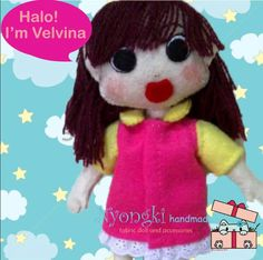 my first doll Velvina.. material : felt height : 20cm