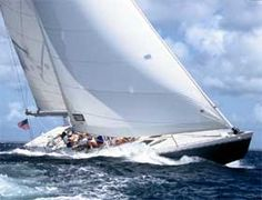 St. Maartens - We raced against Canada in the real Stars and Stripes America's Cup yacht