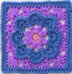 Pretty in Periwinkle Granny Square Pattern