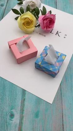Nvhklpugg boxes gift packaging ideas How To Make Mini Paper Tissue Box,Paper Craft Idea! Diy Crafts Hacks, Diy Crafts For Gifts, Diy Home Crafts, Diy Arts And Crafts, How To Make Crafts, How To Make Origami, How To Make Box, Do It Yourself Crafts, Craft Tutorials