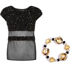 """""""black & gold"""" by i-tre-mercanti on Polyvore"""