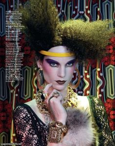Iris Strubegger in 'Golden Horde' - Photographed by Francois Nars (Vogue Russia January 2011)