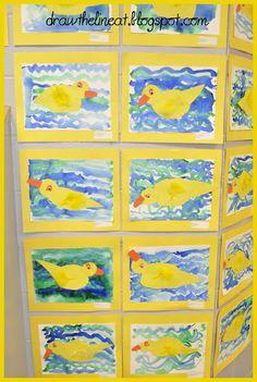 K- ducks- Eric Carle book (10 Little Rubber ducks)