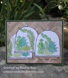 Artistic Embellishments: Live, Love, Grow: Triple the Terrariums