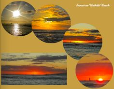 Waikiki Beach Sunset Digital Scrapbook Page by Amanda Black