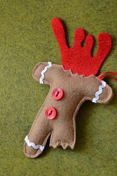 Crooked Sister--display of gingerbread ornaments. So fits my sister! Gingerbread Ornaments, Felt Christmas Ornaments, Gingerbread Man, Winter Holidays, Christmas Holidays, Felt Crafts Patterns, Wool Felt, Dinosaur Stuffed Animal, Etsy Shop