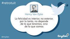 El #retrotuit de hoy, por Henry Van Dyke #FelizViernes
