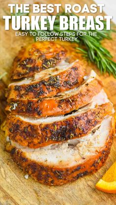 This Turkey Breast Recipe makes the most delicious roast turkey breast. It turns out moist, delicious, and perfect every single time. Turkey Baste Recipe, Recipe For Roast Turkey Breast, Turkey Tenderloin Recipes, Basting A Turkey, Turkey Recipes, Chicken Recipes, Dinner Recipes, Turkey Dishes, Bean Recipes