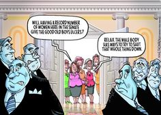 Here come the women. Mike Thompson on GoComics.com #Women #Congress #Politics