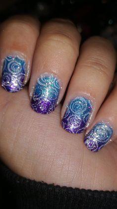 Swirls Nail Art by MahNails
