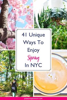 41 Unique ways to enjoy spring in New York that goes beyond Central Park Usa Travel Guide, Travel Usa, Travel Guides, Food Travel, Canada Travel, Travel Tips, Central Park Picnic, Manhattan, Spring In New York