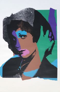 Andy Warhol - Ladies and Gentlemen | adies and Gentlemen 132) by Andy Warhol is part of his Ladies and Gentlemen series that tackled the socio-political issues of cross-dressers. This print features a photo portrait and is transposed by blocks of color, emphasizing the glamorous and eccentric nature of crossdressing men and women.