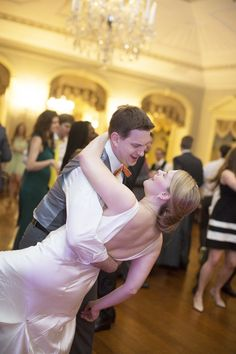 Showing off their dance moves as a newly married couple!