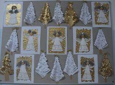 Christmas Crafts For Kids, Christmas Art, Christmas Decorations, Holiday Decor, Art Lessons, Advent Calendar, Diy And Crafts, Santa, Cards