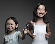 sisterly love ... naughty evil but cute! reminded me of my siblings :)
