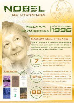 Wislawa Szymborska: un Nobel de Literatura para Polonia, por @Lorna Riojas Riojas Campos M. Ingresa a la web de la imagen para poder acceder a los links de la infografía | De Papel a Digital