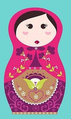 Nesting doll nursery - All about surface pattern, textiles and graphics - Matryoshka Nesting Doll Illustration