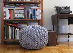 Ravelry: Giant knit rope pouf pattern by Cara Corey