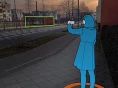 Berlin Time-Traveler: imetraveler macht aus ihrem Mobilgerät ein Fenster in die Vergangenheit. Mit Hilfe von augmented reality erleben Sie die dramatischen Ereignisse rund um den Bau der Berliner Mauer, als seien Sie selbst dabei gewesen. Alles, was Sie tun müssen ist mit der Karte den richtigen Standort finden. Dort betrachten Sie durch ihren Sucher den Ort des Geschehens, die Timetraveler App erkennt den Ausschnitt und blendet die Szene ein, die hier vor 52 Jahren dokumentiert wurden. So…