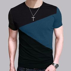 9af56b5353e2 8 Designs Mens T Shirt Slim Fit Crew Neck T-shirt Men Short Sleeve Shirt  Casual tshirt Tee Tops Mens Short Shirt Size