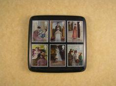 Jane Austen English Book Stamps Square by BixlerandJohnson on Etsy