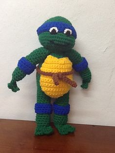 Free Pattern - Ravelry: Teenage Mutant Ninja Turtle pattern by Nichole's Nerdy Knots