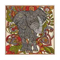"DENY Designs ""Bo The Elephant"" by Valentina Ramos Framed Graphic Art Size: 20"" H x 20"" W x 1"" D"
