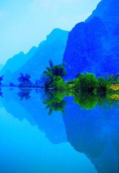 Blue, Li River, China