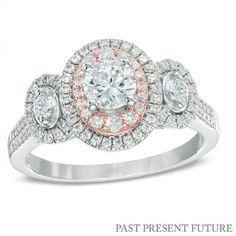 Gorgeous mixed-metal three stone ring!