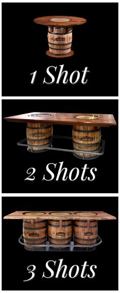 One shot, two shots, three shots, for a Happy 4th! This table is a fine conversation piece designed and built to last. The Jack Daniel's barrel table is a unique and solid wood piece. Bring it home for your 4th of July celebration! | Houston TX | Gallery Furniture |