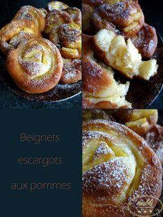 En plus d'être jolis, ces petits beignets escargots garnis de morceaux de pommes sont délicieux. Cette recette a été partagée par Lina sur le forum CuisineTestee. Etant un peu longs à réalise…
