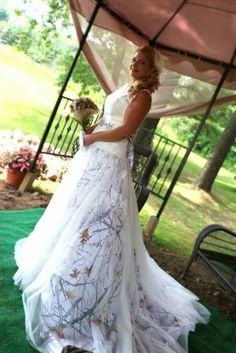 Fabulous Snow camo wedding dress wedding dress camo