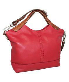 Another great find on #zulily! Red Gabby Gabi Leather Tote #zulilyfinds