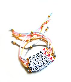 Alphabet Beads  Word/Name  Adjustable Bracelet by KnotSoFancy, $10.00