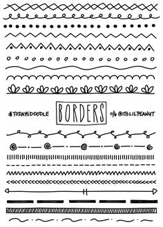 11 Simple Planner Doodles for Your Bullet Journal with Step by Step Process . - Journals and their Doodles - # Bullet Journal Inspo, Borders Bullet Journal, Bullet Journal 2019, My Journal, Bullet Journal Dividers, Bullet Journal Banner, Bullet Journal Design Ideas, Bullet Journal Ideas Handwriting, Bullet Journal Hand Lettering