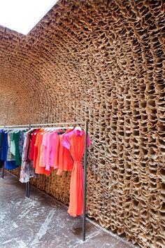 OWEN by Tacklebox Architecture - brown paper bag walls Design Shop, Shop Interior Design, Retail Store Design, Retail Shop, Paper Bag Walls, Paper Bags, Commercial Design, Commercial Interiors, Merci Paris