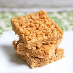 Peanut Butter Rice Crispy Treats. 1 cup sugar 1 cup Karo syrup 1 1/2 cups peanut butter 5 cups Rice Krispies