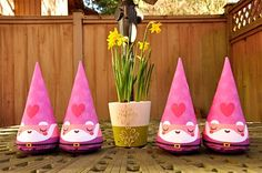 Craft idea...use party hats to make gnomes