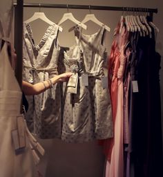 Spotted: metallic bridesmaid dresses #Nordstrom #Weddings