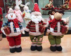 Karácsonyi szövet hóember karácsonyi dekoráció