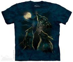 big men's tshirt three werewolf moon stonewashed by LIBERTYHORSE, $11.99