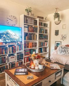 Personal Library, Hello Autumn, Bookcase, Gallery Wall, Shelves, Frame, Home Decor, Picture Frame, Shelving