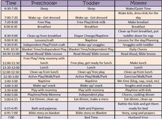 This is an amazing schedule for a Stay at Home Mama of Toddlers and Preschoolers!