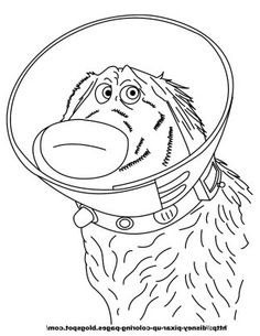All Pixar Characters Coloring Pages