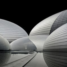 thewallofechoes: Scalelessness / Beijing by Miroslava Brooks, via Behance Amazing Architecture, Contemporary Architecture, Architecture Design, Curve Design, Art For Art Sake, Chinese Culture, Modern Buildings, Architectural Elements, Beijing