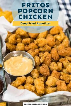 Easy to make, this Fritos popcorn chicken recipe is deep fried for maximum flavor and crunch. These chicken bites are perfect to serve as an appetizer or part of a main. #appetizer #chickenbites #kidfriendlyrecipe Best Chicken Recipes, Turkey Recipes, Dinner Recipes, Game Day Appetizers, Chicken Bites, Game Day Food, How Sweet Eats, Kid Friendly Meals, Healthy Options