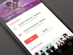 Concept app in Material Design (Ticket) by Matteo Pasuto