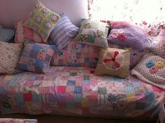 cute cushions and patchwork