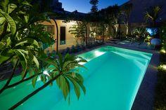 Square, deep, stylish but simple, this concrete style pool has it all. http://www.barrierreefpoolsperth.com.au/Pool-Spa/Monaco-Slim-Line-Range