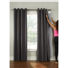 Universal Blackout Curtain Liner (Ultimate liner 45x88), White, Size 45 x 88 (Polyester Blend, Solid)